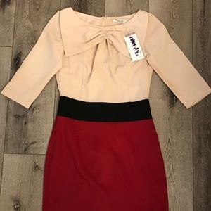 NWT knee Length Dress 3/4 Sleeves Coctail Party S